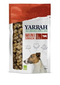 正規品 YARRAH ヤラー ミニバイツ オーガニックジャーキー 100g  【犬/穀物フリー/アレルギー/おやつ】