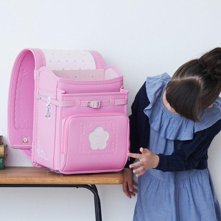 ランドセル 女の子 2019 プチフルール  クラリーノ フィットちゃん 小花の型押しと刺繍のランドセル デカポケ搭載 [SW]