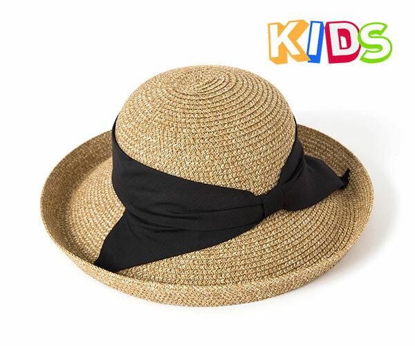 帽子 キッズ 麦わら帽子 つば広 子供用 しっかり日差しからガード!ブレードストローハット KASA KIDS カブロカムリエ 送料無料 【専用あごひも対応】