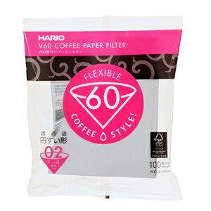 ハリオ V60用ペーパーフィルター 02W 1-4杯用 100枚入 【カフェ工房】