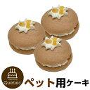 ウーピーパイ バナナ味 3個セット マカロン 誕生日ケーキ ワンちゃん用 犬用 ペットケーキ ペットライブラリー or …
