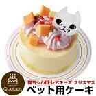 2018クリスマスケーキ猫用レアチーズケーキクリスマスケーキペットケーキ