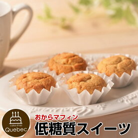 【低糖質スイーツ/砂糖不使用】糖質63%カット! カロリー20%カット! おからパウダーたっぷり! 低糖質カップケーキ 4個セット
