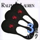 POLO RALPH LAUREN ポロ ラルフローレン メンズ ビッグポニー ポロプレイヤー カバー ソックス 3足セット 靴下 [8273pkbk]【楽ギフ...