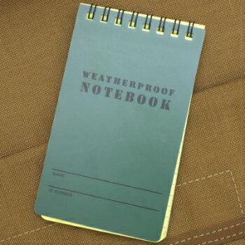 ZERO(ゼロ)Weatherproof Notebook 3×5 ウェザープルーフノートブック 3×5 [防水ノート]