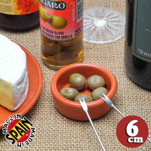 【予約販売】Graupera テラコッタ製 陶器 スペイン製 ミニ カスエラ cazuela 6cm オシャレ な 家バル おもてなし料理 おつまみ 小皿 ブラウン パテ バター オリーブ用 容器 冷蔵 冷凍庫 もOK sgr-0106br