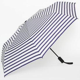 折りたたみ傘 BAGGU UMBRELLA AUTO レディース メンズ 男女兼用 自動開閉式 折り畳み傘 バグゥ アンブレラオート ホワイトネイビー