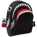 【選べるカラー】ポーチ MORN CREATIONS シャーク ポーチ 小物入れ モーンクリエイションズ ポーチ サメ ブラック