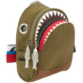 ポーチ MORN CREATIONS シャーク ポーチ 小物入れ モーンクリエイションズ ポーチ サメ グリーン