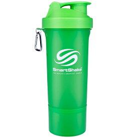 プロテインシェイカー SmartShake Slim 500ml シェーカーボトル プロテインシェーカー スマートシェイク スリム NEON グリーン
