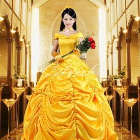 美女と野獣 ベル風 Belle ドレス プリンセスドレス コスプレ衣装 パーティー カラオケ cl-2724T017