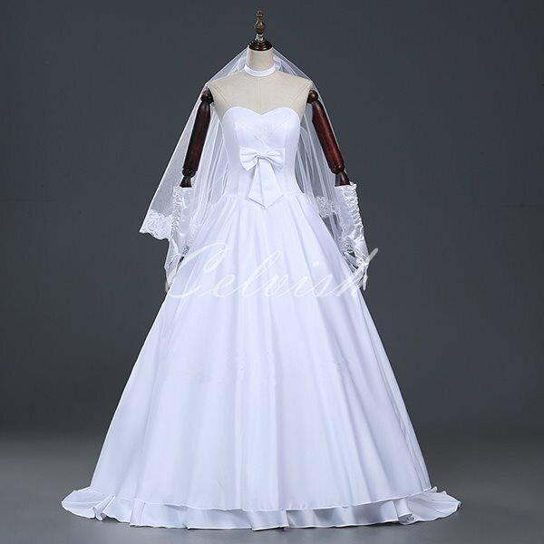 フェイト・セイバー アルトリア風 ドレス プリンセスドレス コスプレ衣装 パーティー cl-282200P5