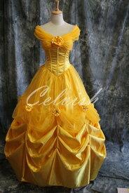 美女と野獣 ベル風 Belle ドレス プリンセスドレス コスプレ衣装 パーティー カラオケ cl-282304502