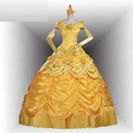 美女と野獣 ベル風 Belle 豪華版 ドレス プリンセスドレス コスプレ衣装 パーティー カラオケ cl-282304509