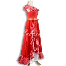 アバローのプリンセス エレナ 風 ドレス ディズニー ハロウィン コスプレ ドレス プリンセスドレス コスプレ衣装 パーティー cl-2923D017