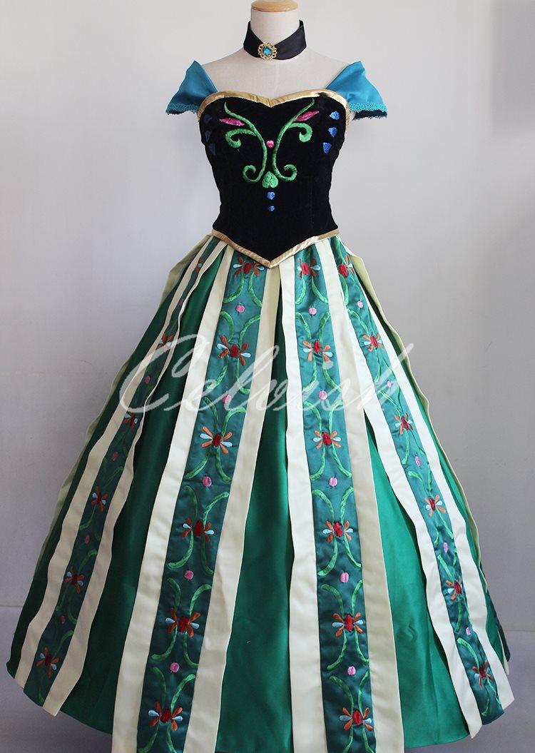 アナと雪の女王 アナ 風 ドレス ディズニー ハロウィン コスプレ ドレス プリンセスドレス コスプレ衣装 パーティー cl-2923D027
