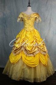 美女と野獣 ベル風大人ドレス プリンセスドレス コスプレ 衣装 仮装 ドレス プリンセスドレス コスプレ衣装 パーティー cl-3023D031