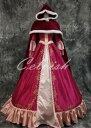 美女と野獣 ベル風大人ドレス(マント付)プリンセスドレス コスプレ 衣装 仮装 ドレス プリンセスドレス コスプレ衣…