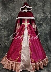 美女と野獣 ベル風大人ドレス(マント付)プリンセスドレス コスプレ 衣装 仮装 ドレス プリンセスドレス コスプレ衣装 パーティー cl-3023D035S