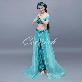 アラジン ジャスミン風 大人ドレス プリンセスドレス コスプレ衣装 カラオケ パーティー ダンス c-3023D058