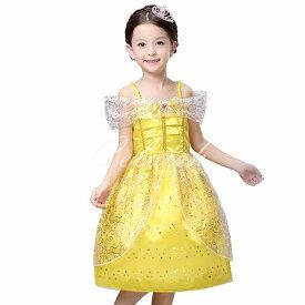 ハロウィン コスプレ ドレス 美女と野獣 ベル 風 プリンセスドレス 子供 ドレス 衣装 コスプレ C-28546009