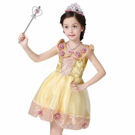 クリスマス コスプレ ドレス 美女と野獣 ベル 風 プリンセスドレス 子供 ドレス 衣装 コスプレ C-28546059