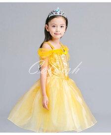 コスプレ ドレス ベル風 プリンセスドレス 子供 ドレス 衣装 USJ C-2858S1801