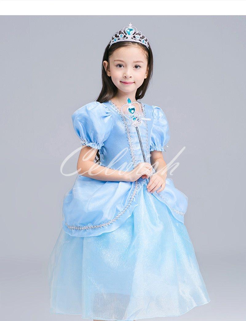 ディズニー ハロウィン コスプレ ドレス シンデレラ風 プリンセスドレス 子供 ドレス 衣装 USJ C-2858S1809S