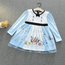アリス 風 長袖 プリンセスドレス コスプレ ドレス 子供 ドレス 衣装 仮装 C-2958L968
