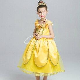 コスプレ ドレス ベル 風 子供 ドレス プリンセスドレス 美女と野獣 衣装 仮装 C-2958S3015