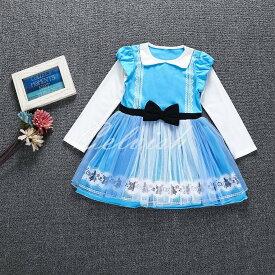 コスプレ ドレス アリス 風 長袖 プリンセスドレス 子供 ドレス 衣装 仮装 C-30650E63