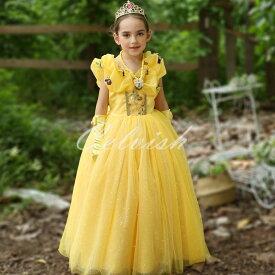 コスプレ ドレス ベル 風 子供 ドレス プリンセスドレス 美女と野獣 衣装 仮装 c-30580812