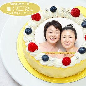 冷凍ケーキ【母の日 ケーキ】ベイクドチーズ 写真ケーキ4号サイズ直径12cm≪2〜3名用サイズ≫から≪7〜10名用≫6号サイズ直径18cmまでご用意濃厚なチーズの本格チーズケーキ