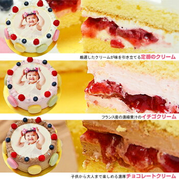 シェリーブランのオリジナル写真ケーキ4号サイズ