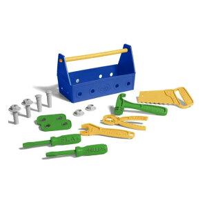 【スーパーSALE】【10%OFF】【GIFTラッピング無料】大工さん おもちゃ ごっこ遊び 工具セット Green toys グリーントイズ ツールセット ブルー アメリカ製 男の子 2歳以上 かわいい 輸入玩具 ギフ