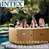 INTEX PURE SPA 스파 쿠지 4 인 pure spa octagon 월풀 버블
