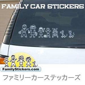 【ネコポス・代引き不可】familystickersファミリーカー CAR クリア ステッカー/シール 車 ステッカー ウィンドウステッカー baby in car dog in car