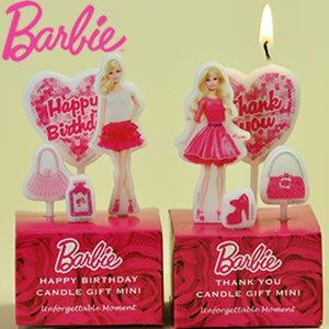 【送料500円一部地域を除く☆】バービー キャンドル ギフト ミニ セット barbie ろうそく 誕生日やパーティーにぴったり キャンドル
