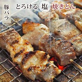 焼きとん 豚バラ串 塩 5本 BBQ バーベキュー 焼肉 焼鳥 焼き鳥 惣菜 おつまみ 家飲み グリル ギフト 肉 生 チルド