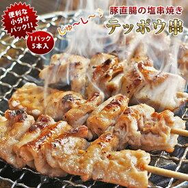 焼きとん 豚テッポウ串 塩 モツ焼き 5本 BBQ バーベキュー 焼肉 焼鳥 焼き鳥 惣菜 おつまみ 家飲み グリル ギフト 肉 生 チルド