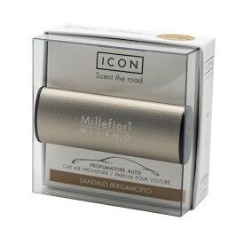 ミッレフィオーリ(Millefiori)[16CAR60] カーエアフレッシュナー ICON METALLO 56 BRONZE MAT - サンダルベルガモット
