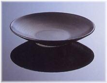 特価 白山陶器 陶茶托 黒炭釉 12cm