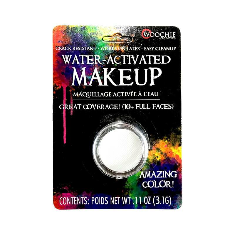1/8oz. ウォーターメイクアップ ホワイト Water Activated Makeup Color, White, (0.11oz/3.1g) WAI001   白色,水性,ドーラン,フェイスペイント,コスプレ,ハロウィン,パーティー,仮装,特殊メイク