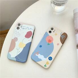 【メール便送料無料】チューリップ♪スマイリー♪花♪雲♪クリエイティブな幾何学模様スマホケースiPhone7/8,7/8Plus,iPhoneX/Xs,iPhoneXR,iPhoneXS Max,iPhone11,11Pro,11Pro Max,iPhoneSE2