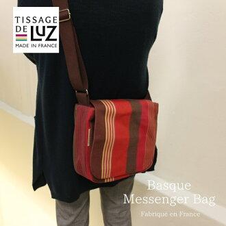 Tissage de Luz公司直接进口信使包棉布/条纹巴斯克编织/法国制造/BASQUE