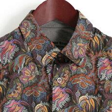Gabicciガビッチ長袖シャツレトロMaddoxStreetLondon花柄ペイズリーリバティーアート2色メンズモッズファッション