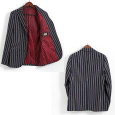 Gabicciガビッチビンテージボーティングブークルストライプウールジャケットブレザーレトロメンズモッズファッション
