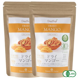 有機 ドライマンゴー50g 2袋 砂糖不使用 タイ産 JASオーガニック マンゴー マハチャノック種 無添加 無漂白 無保存剤 グルテンフリー メール便送料無料