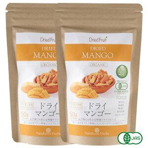 有機 ドライマンゴー50g 2袋 砂糖不使用 タイ産 JASオーガニック マンゴー マハチャノック種 無添加 無漂白 無保存剤 グルテンフリー