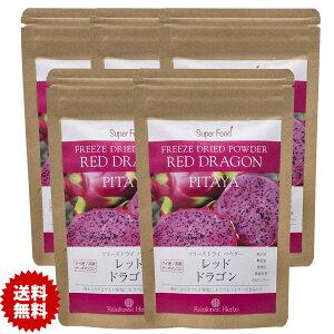 レッドドラゴンフルーツ ピタヤパウダー 60g 5袋 フリーズドライ タイ産 Red Dragon Fruit Freeze Dried Powder PITAYA